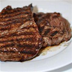 Garlic Pepper Steak Recipe Main Course with olive oil, garlic, cracked black pepper, round steaks