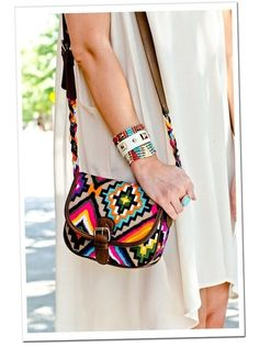 Tribal prints are everywhere! Even on accessories! #prints