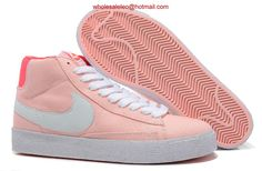 best cheap 0d4d1 78a62 Nike High Tops, White Casual Shoes, White Women, Pink Ladies, Styles P, Nike  Blazers, Peach, Pink White, Nike Air Max