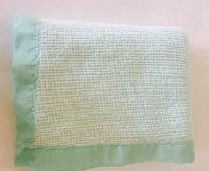 Bright Future Aqua Green Fleece Acrylic Thermal Waffle Weave Baby Crib Blanket