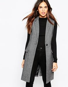 Warehouse Sleeveless Tailored Blazer- Warehouse Ärmellos geschnittener B Tesettür Hırka Modelleri 2020 Sleeveless Blazer Outfit, Sleeveless Coat, Jumper Outfit, Blazer Outfits, Edgy Outfits, Classy Outfits, Fashion Outfits, Western Outfits, Jackets