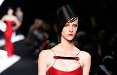 The incredible chapeaus at the Giorgio Armani Prive haute couture show in Paris.