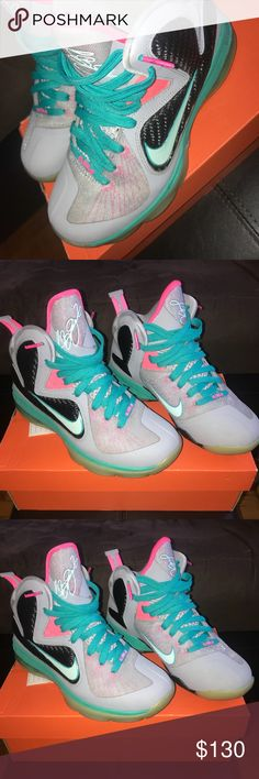 pretty nice 2ee69 ce487 South Beach Lebron 9s 8 10 great condition Nike Shoes Sneakers