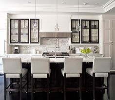 Modern black and white kitchen