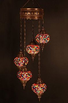 Chandelier, Ceiling Lights, Turkish Lamps, Hanging Mosaic Lights, Pendant, Red Glass, Color Glass, Moroccan Lantern, 5 Bulbs, Express Shipping, http://www.amazon.com/dp/B00VAI8E4A/ref=cm_sw_r_pi_awdm_5fmawb0X3DVYE