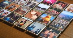 DIY Magnets - tiles, photos, Mod Podge, magnets, DONE! Super easy and inexpensive. Diy Photo, Photo Craft, Diy Craft Projects, Fun Crafts, Party Crafts, Homemade Gifts, Diy Gifts, Diy Instagram, Motif Photo