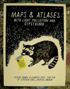 Maps & Atlases gig poster