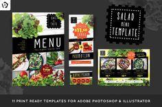 Salad Restaurant Menu Template @creativework247