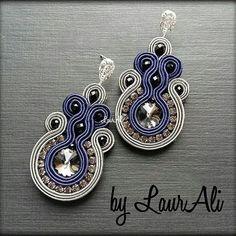 Ribbon Jewelry, Bling Jewelry, Boho Jewelry, Jewelry Sets, Jewelery, Handmade Jewelry, Jewelry Making, Gold Bridal Earrings, Wire Earrings