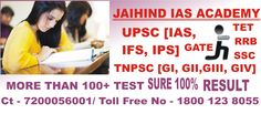 ADMISSIONS OPEN FOR TNPSC GROUP-II, ‪#‎jaihindiasacademy‬ Further Detail Feel Free to Contact Toll Free No: 1800-123-8055, Branches : Thiruvanmiyur, T Nagar, Velachery.