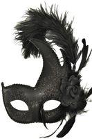 Madame Mardi Gras Mask (Black) - Pure Costumes