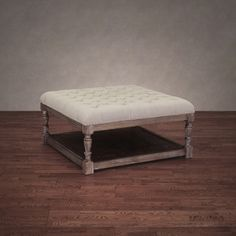 creston beige linen tufted ottoman shopping the best deals on ottomans coffee table - Tufted Ottoman Coffee Table