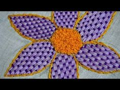 long french knot stitch in Tamil - hand embroidery stitches - YouTube