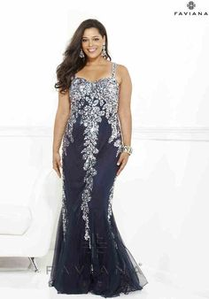 429f7cc02b0 2014 Plus Size Prom Dresses For a Curvy Figure (24 Pictures) Navy Blue Prom