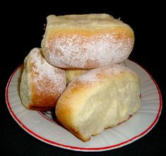 "- Hungarian ""Bukta"" which is a sweet yeast pastry filled with jam. Hungarian Recipes, Hungarian Food, Challah, Looks Yummy, Goulash, Nutella, Bread Recipes, Fudge, Food And Drink"