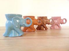 Your place to buy and sell all things handmade Elephant Mugs, Vintage Elephant, Coffee Mug Sets, Mugs Set, Republican Gop, Elephant Home Decor, Colorful Elephant, University Of Oklahoma, Elephants