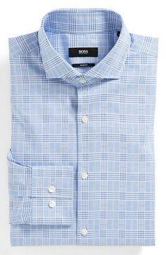BOSS HUGO BOSS 'Jason' Slim Fit Dress Shirt | Nordstrom Slim Fit Dress Shirts, Slim Fit Dresses, Fitted Dress Shirts, Shirt Dress, Simple Shirts, Cool Shirts, Trouser Outfits, Smart Men, Stylish Mens Outfits