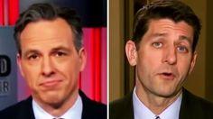Jake Tapper Humiliates Paul Ryan: Trump 'Just Gave a Speech & Didn't Men...