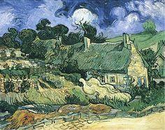 "Vincent van Gogh, ""chozas de paja en Cordville"""