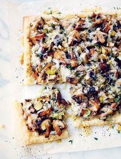 Mushroom Leek Tart