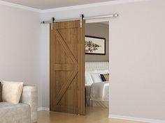 Entry Door (coded 2585) With Sidelights And Toplight, Barn Doors (shaker  Panel) With Brushed Nickel Barn Door Hardware.#greatnwhomes | Pinterest |  Barn Door ...
