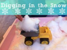 Playful Learners: Tuff Spot- Digging in the Snow