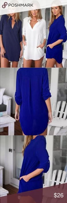 Royal Blue Chiffon Blouse 🤗Welcome! Thank you for visiting my boutique! Feel free to ask questions!   🏷 Item Details • Stunning Royal Blue  💳 Pre-Order Details • 1. Make an Offer!  2. Receive a Boutique Credit with the Poshmark shipping label for your wait time! We will provide a separate tracking # once your item ships! 📦💕 FREE SHIPPING on all pre-order items! (via FedEx or United Postal Service)  😘 Trusted & Top Rated Seller!   📱 Follow us on Instagram! 👍 Like us on Facebook…