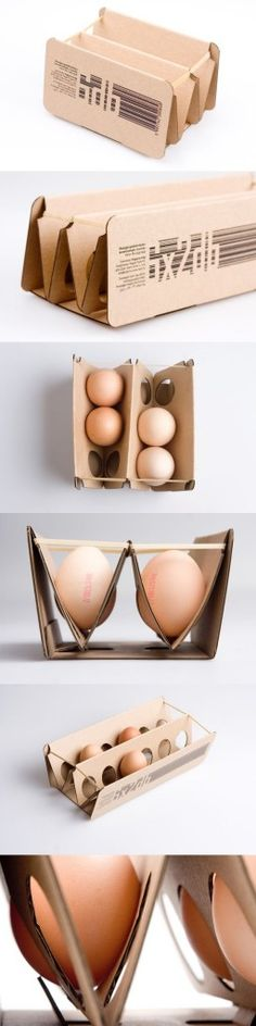 Cardboard & rubber band packaging by Eva Valicsek, via From up North