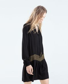 Image 3 of EMBROIDERED DRESS from Zara