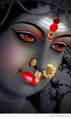 New Beautiful Latest Mata Ji Navratri Wallpaper And Wishes Collection By WaoFam. Durga Maa Pictures, Maa Kali Images, Shiva Parvati Images, Durga Images, Lord Shiva Hd Images, Ganesh Images, Krishna Images, Lord Durga, Durga Ji