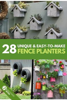 My garden is small because I don't have a huge yard to start with, so I have to find creative ways to utilize all the space available. I discovered a long time ago that making use of my fence by using fence planters nearly doubles the amount of vegetation