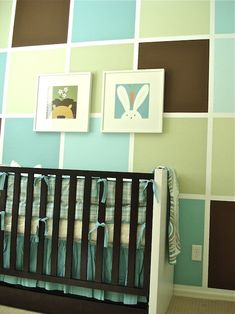 Fun Color Block Walls... Re-due in Cyan, Magenta, Yellow, & Black --- inspiration from projectNursery.com