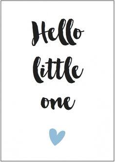 Kaart Hello litte one (jongen) | Nieuw | Hooray & Thanks