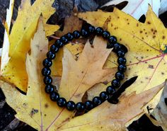 BLACK ONYX BRACELET | Focus Chaotic Energies With Black Onyx To Complete Your Projects, Healing Stone Jewelry, New Age Jewelry by IttyBittyCelticWitch on Etsy