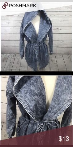 Denim wrap jacket Acid wash denim wrap jacket Wish Jackets & Coats Jean Jackets