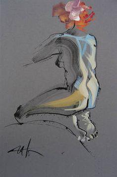 """5 nude (4),"" original figurative painting by artist  INGA KALLAGOVA (Russia) available at Saatchi Art #SaatchiArt"