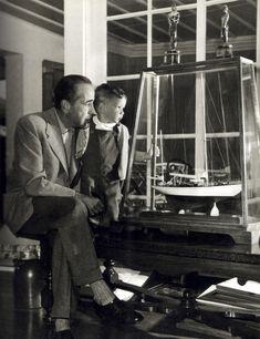 Humphrey Bogart (1899-1957) with son Stephen Humphrey Bogart (c 1950
