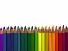 colored pencils powerpointsagefox | free powerpoint templates, Powerpoint templates