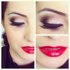 can't get enough of red lips and cat eye liner