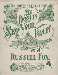 Mr. Doolin' Stop Your Foolin'                        #sheetmusic #irish