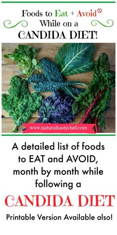 Foods to Eat and Avoid While on a Candida Diet - I know first hand that there's a whole LOT of conflicting information out there about what foods to eat and avoid while on a Candida Diet. On top… Candida Diet Food List, Anti Candida Diet, Candida Yeast, Candida Cleanse, Candida Diet Breakfast, Candida Symptoms, Candida Intestinal, Candida Fungus, Fungi