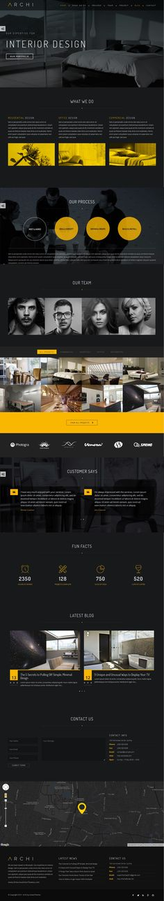 Archi #interior design website theme has beauty design and bunch of features to make your website stand out of crowd. Powered by HTML 5, CSS 3, jQuery with flexibility of Bootstrap 3. #WordPress
