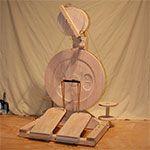 Bluebonnet CraftyBee Spinning Wheel for art yarns