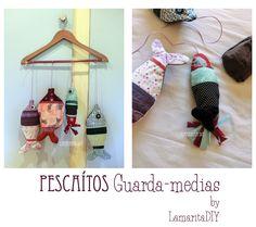 Little fishes: storage bag por panties. Tuto and free pattern. Pescaditos guarda- medias I: Tutorial + Patrón
