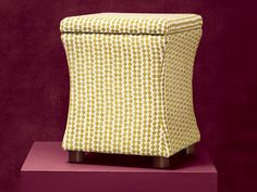 The hourglass shape and a small allover pattern on this ottoman offer up a modern, sculptural look. From @wayfair