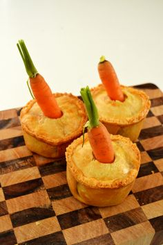 Mr McGregor's Veggie Patch Pot Pies- so cute for Easter or a Peter Cottontail theme!