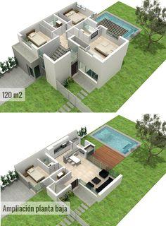 Fotos de casa a construir de 120 m2 lugares para visitar for Disenos de casas 120 m2
