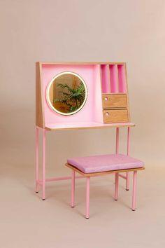 modular furniture The Modular Pink Collection Celebrates the Bauhaus - Design Milk Custom Made Furniture, Modular Furniture, Furniture Design, Bauhaus Furniture, Interior Bauhaus, Chambre Indie, Hay Design, Book Design, Layout Design