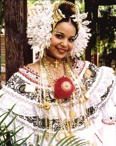 The Pollera, the national costume of Panama