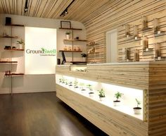 """I admit, I was a little skeptical to hear of a business calling themselves a """"cannabis boutique."""" I fully blame my cynicism on all those years spent driving to some shit-hole to score weed from a f… Pharmacy Design, Retail Design, Commercial Design, Commercial Interiors, Shop Interior Design, Store Design, Pop Up, Cannabis Shop, Retail Concepts"""